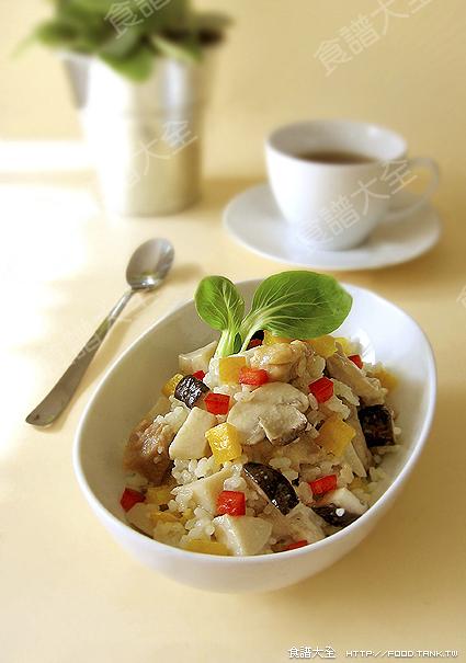 雞肉蘑菇燉飯