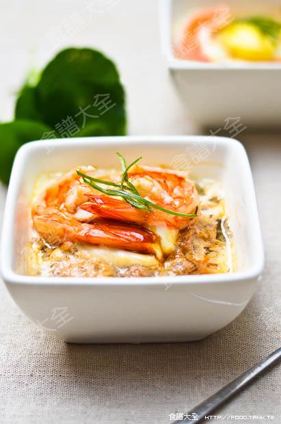 大蝦肉末蒸蛋