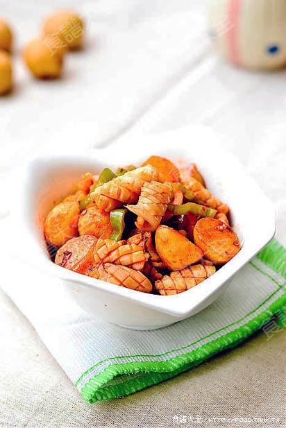 馬鈴薯燒魷魚