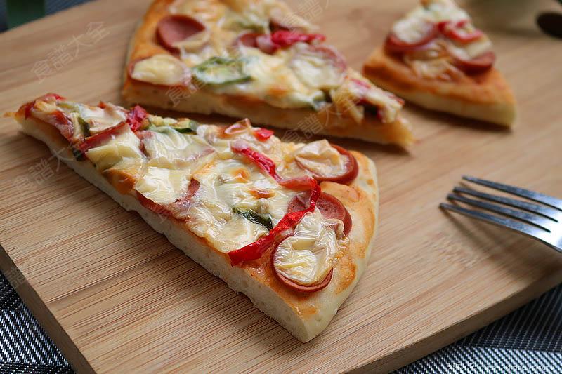 秋葵香腸披薩