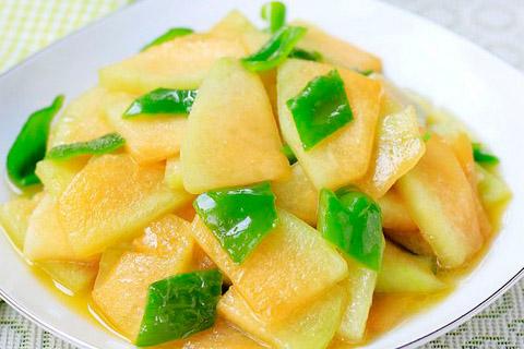 脆炒哈密瓜