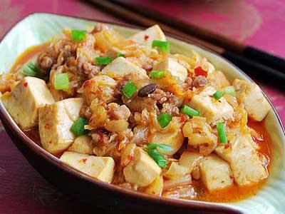 香辣泡菜豆腐