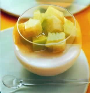 哈密瓜蜜汁乳凍