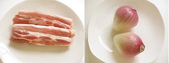 鹵肉飯材料
