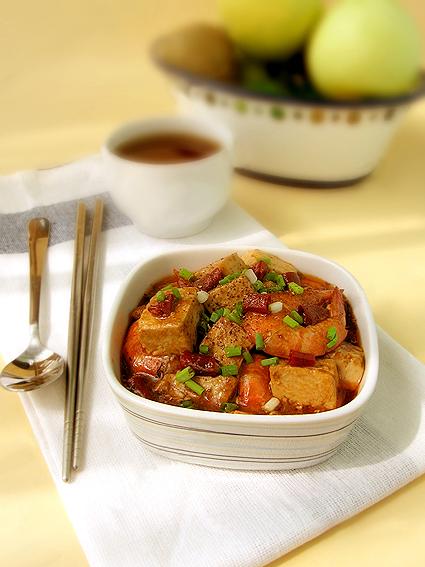 麻婆豆腐蝦