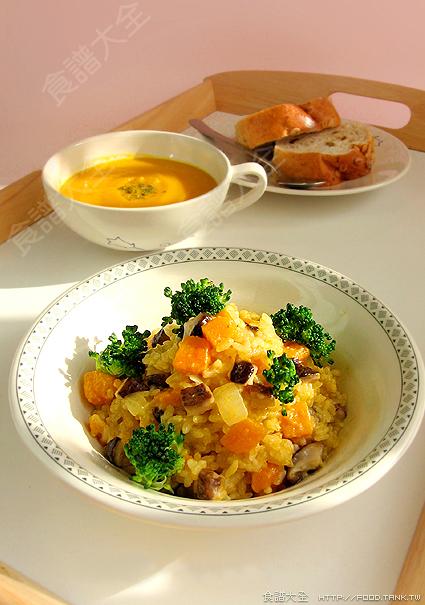 南瓜燉飯+南瓜濃湯