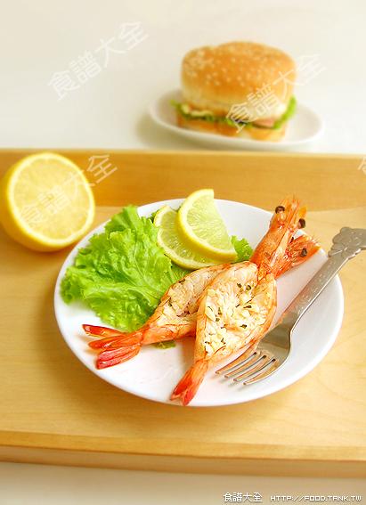 大蒜奶油烤鮮蝦