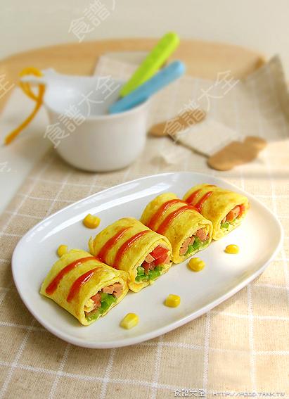 玉米起司蔬菜蛋卷
