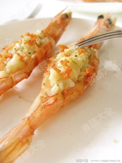 蒜茸開背蝦