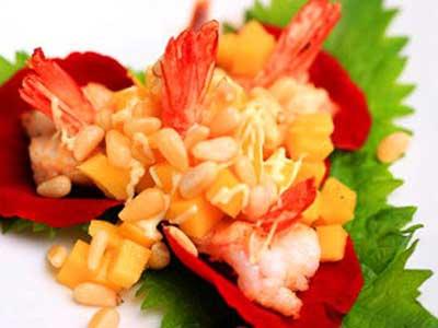玫瑰松子芒果蝦