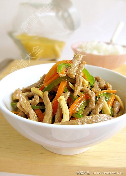 青椒豆干炒牛肉絲