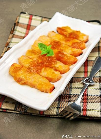 酸梅醬烤鮭魚