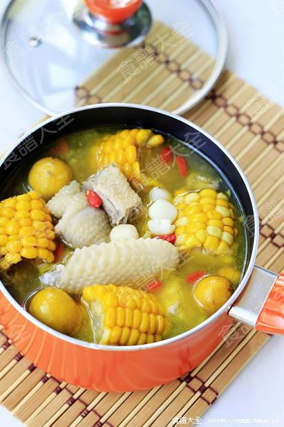 玉米蓮子雞湯