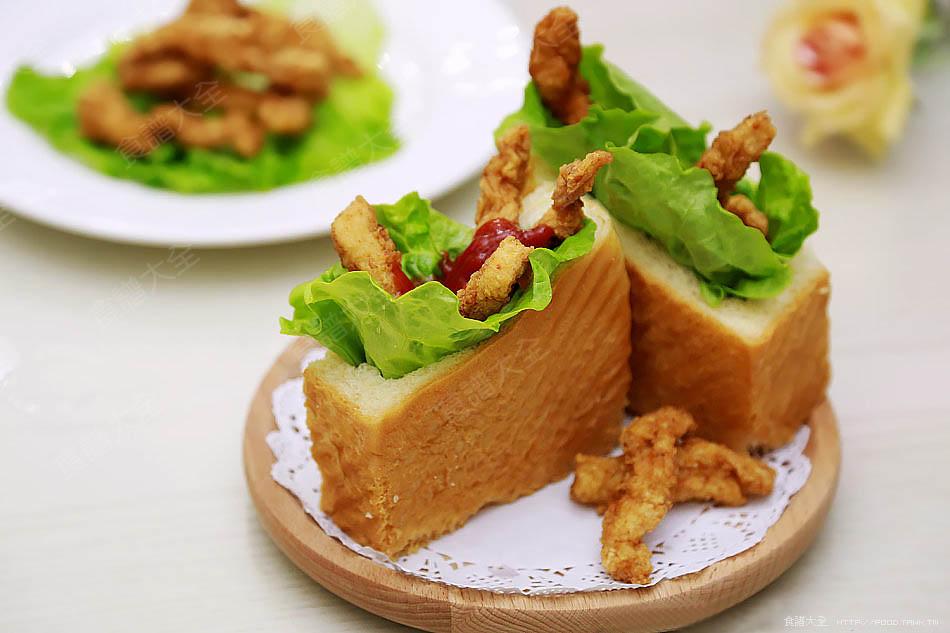 五香雞柳三明治