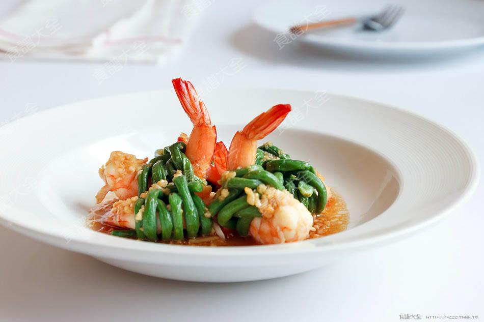 蒜泥長豆蝦卷