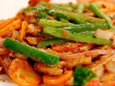 胡蘿蔔香煎豬肉