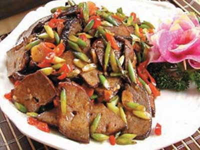 香菇炒豬肝