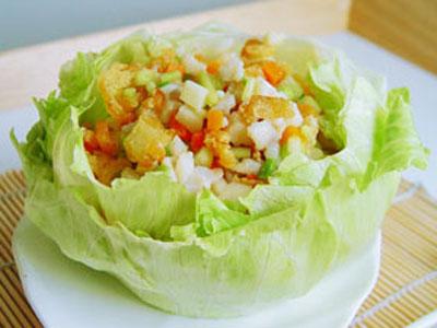 生菜魚鬆盅