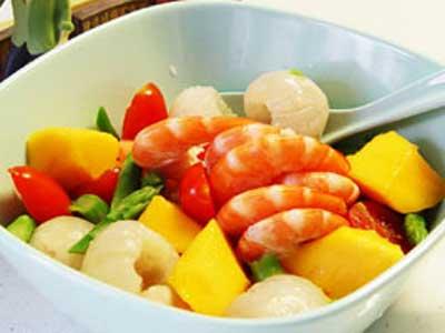 鮮蝦水果拌